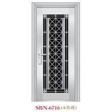 Puerta de acero inoxidable para exteriores (SBN-6716)