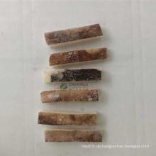 Haut auf Streifen aus gefrorenem Tintenfisch geschnitten, keine Chemikalie