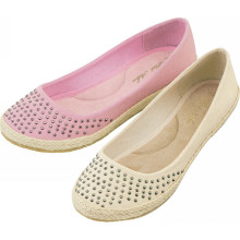 2014 hot selling charming diamante ballet flats for women Pink or white two colors