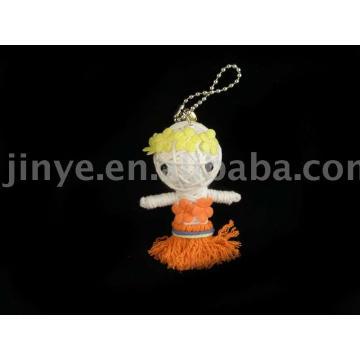 brinquedo de vodu Haiwaii dança menina artesanal
