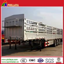 3 axes 60 tonnes de transport de cargaison de col de cygne semi-remorque