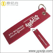Logo en sérigraphie mignon laine feutrée keychain keytag