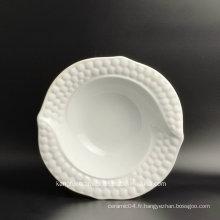 Plaque en céramique de plat de salade d'utilisation de petite taille d'hôtel