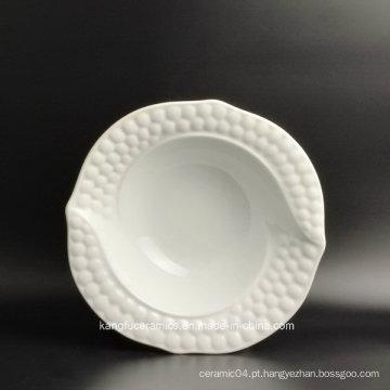 Pouca placa cerâmica da placa da salada do uso do hotel do tamanho
