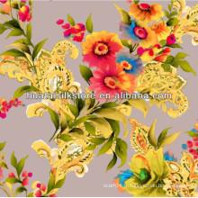 Vente en gros de tissu imprimé numérique en soie chinoise
