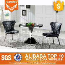2017 china cheap small marble top 2 seater dining table sets