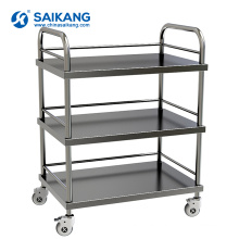 SKH004 CE Marked Stainless Steel Hospital Treatment Trolley
