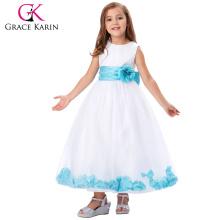 Grace Karin Sleeveless Flower Decorated Flower Girl Princess Dress 2~12 Years CL008936-6