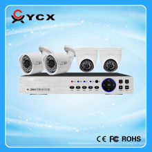 Kit de H.264 Cctv 4CH 1.0MP AHD DVR, cámara de 1MP AHD, kit de la seguridad DIY AHD