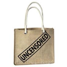 Kundenspezifische Jute-Tasche mit Siebdruck (hbjh-19)