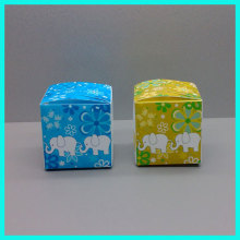 2014 popular bright color printing custom wedding favor white frosted plastic small pp box for gift