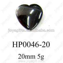 Hematite 20MM Heart Pendants