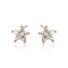 96498 bijoux Xuping couleur or rose CZ étoiles synthétiques en forme de boucles d'oreilles
