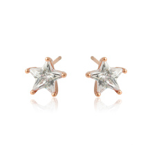 96498 Xuping  jewelry  Rose gold color Synthetic CZ  stars shaped studs earrings