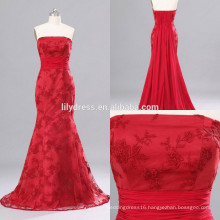 Red Sweetheart Neckline Mermaid Custom Made Floor Length Designs Long Evening Party Wear ED151 lace formal evening dress