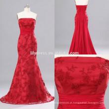Red Sweetheart Neckline Mermaid Custom Made Floor Length Designs Long Evening Party Wear ED151 laço formal vestido de noite