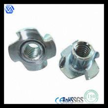 Hochwertiger verzinkter Stahl Vier Klauenmutter (DIN1624)