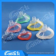 1 mascarilla de anestesia médica de PVC desechable con válvula de retención