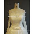 Professionnel Chine usine de dentelle à manches longues robes de mariée courtes robe de soirée à deux pièces