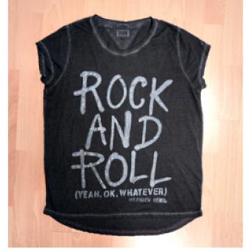 Frauen Kurzarm T-Shirt mit Dirty Wash