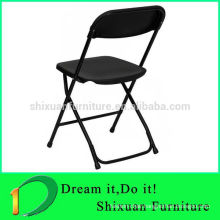 modern stackable powder coating plastic folding chair
