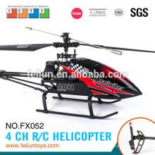 O mais profissional 2.4G 4CH alumínio liga longo alcance helicóptero rc para certificado de CE/FCC/ASTM de adultos