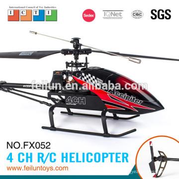 Le plus professionnel 2.4 G 4CH aluminium alliage grosse télécommande hélicoptère fabrication certificat CE/FCC/ASTM