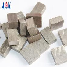 diamond segment for cutting stone blocks