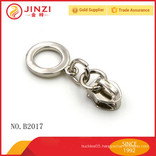Circle holder locking zipper sliders