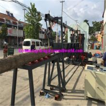 Madeira portátil corte máquina 20 HP gasolina motor alimentado Twin Serra Vertical