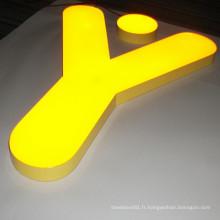 Gel de résine époxy rempli LED signes de lettres