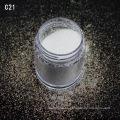 Venta al por mayor polvo cosmético blanco brillo glitter