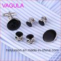 Qualidade VAGULA New Silver Gemelos Abotoaduras Collar Studs em 6PCS Set (295)