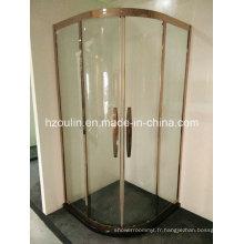 Cabine de douche à cadre en acier inoxydable
