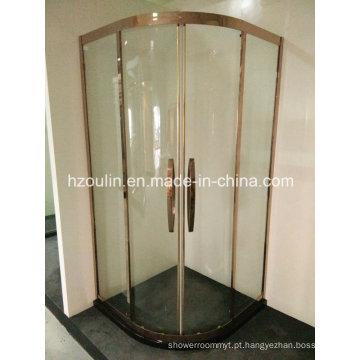 Cerco do chuveiro do frame de aço inoxidável