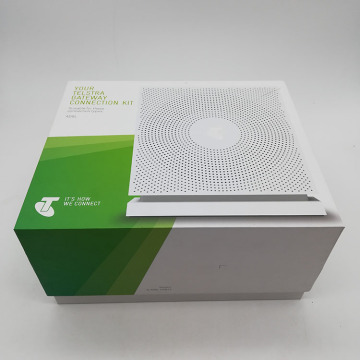 Caja de regalo colorida con tapa Telstra Gateway