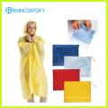 Waterproof Women′s Yellow PVC Poncho