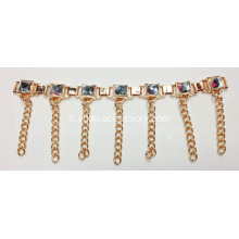 Clips scarpe strass, scarpe decorativi catena, Scarpe Accessori