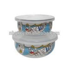 Enamel Ice Storage Bowl & Salad Bowl With pe Lid