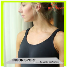 Moisture-wicking Black Hot Yoga Clothes , Trendy Sexy Women Fitness Yoga Bra
