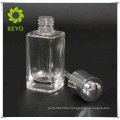 15ML white matte glass dropper bottle silver white rubber dropper bottle screen printing for cosmetic essential oil