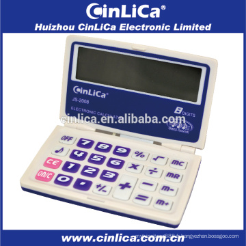 JS-2008 Calculateur de poche de calculateur d'affichage grand chiffre 8 chiffres