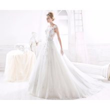 Lace 3D Flower Tulle Ball Bridal Gown