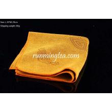 Китайский традиционный облачный картинный полотенце для чайного подноса Желтый цвет