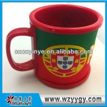 Bandera de Portugal pvc silicona Copa la taza para la promoción del viaje