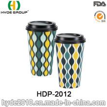 Taza promocional desechables de café caliente con tapa (HDP-2012)