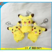 Charming Style High Quality Yellow Pikachu Doll Cute 4 Inches Pokemon Go Plush Keychain