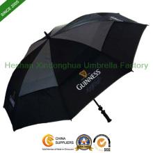 Noir ventilé Windproof Golf parapluie publicitaire (GED-0027FD)