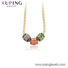 44948 Xuping высокое качество 18k позолоченные красочные ожерелья