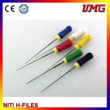 Arquivos descartáveis do canal de raiz Arquivos de Niti K Material dental